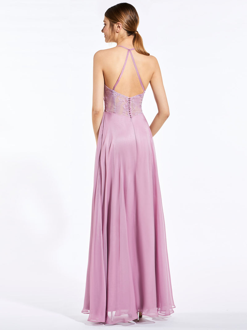 Sleeveless Pick-Ups A-Line Floor-Length Bridesmaid Dress