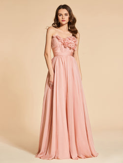 Floor-Length Sweetheart A-Line Sleeveless Evening Dress