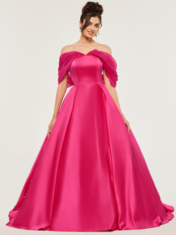 Off-The-Shoulder Bowknot Ball Gown Floor-Length Quinceanera Dress