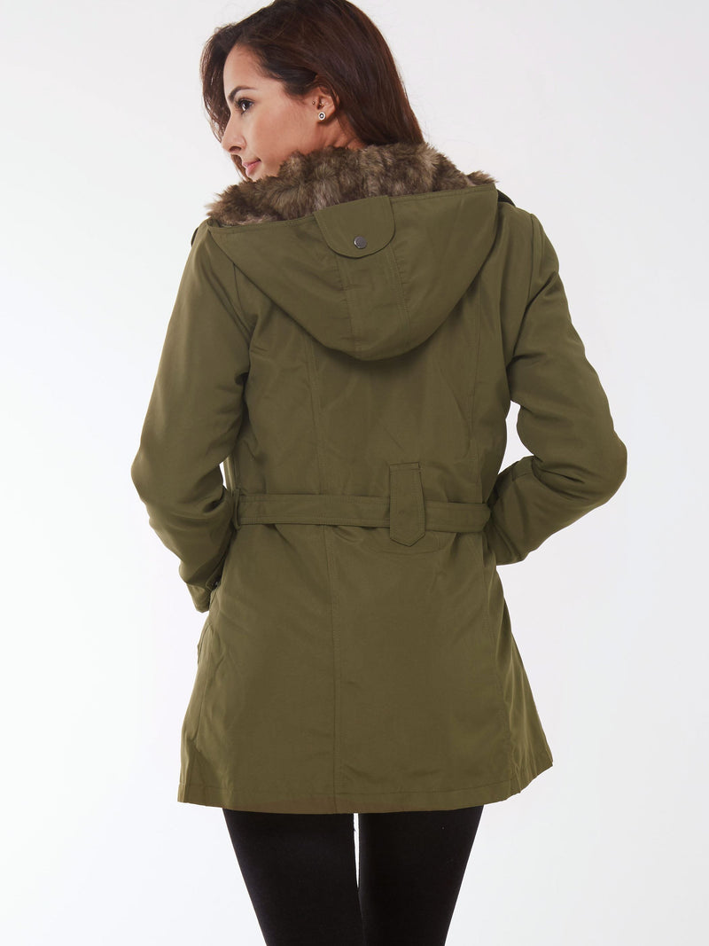 Plus Size Hooded Long Sleeve Warm Women's Overcoat