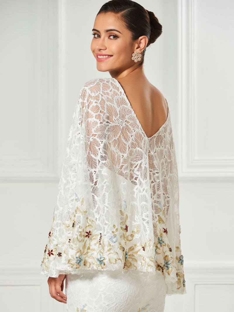 Knee-Length Long Sleeves Sheath/Column Lace Cocktail Dress