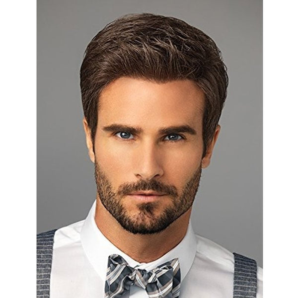 Straight Capless Synthetic Hair Short Wigs For Men