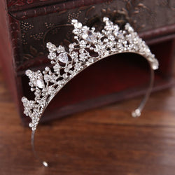 Tiara Heart-Shaped Crystal Inlaid Gift Hair Accessories