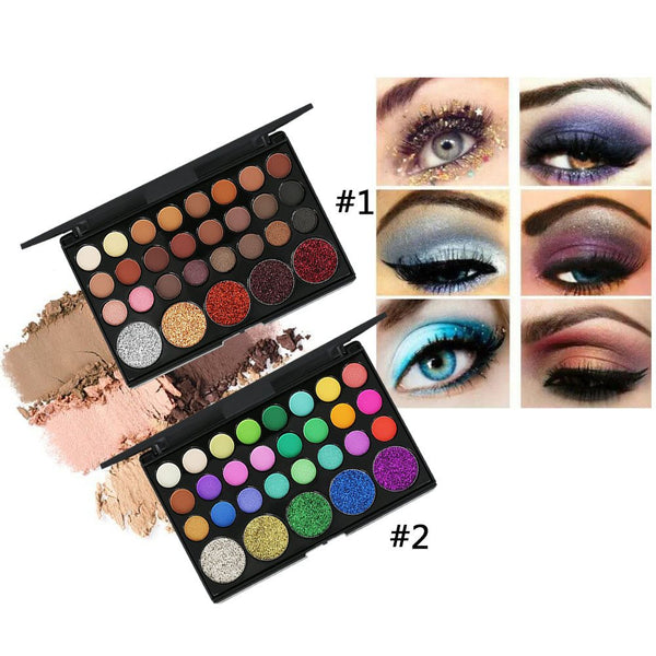 Beautiful Women's Eye shadow Match Ten Brushes 29 Color Eyeshadow Tray