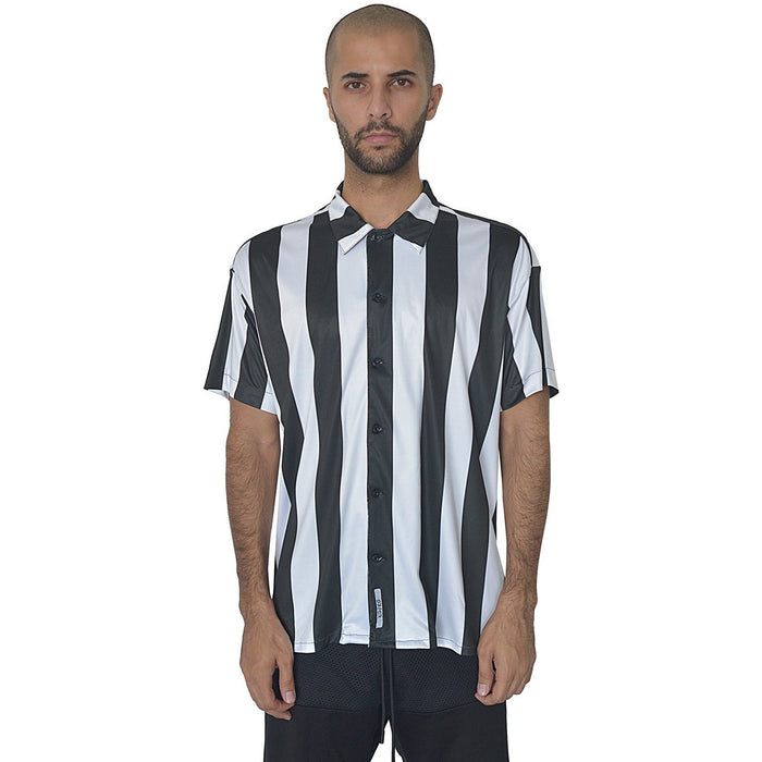 BURNT REFEREE STRIPE SHIRT