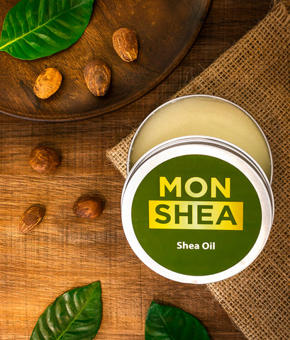 monshea shea oil for dry skin and hair