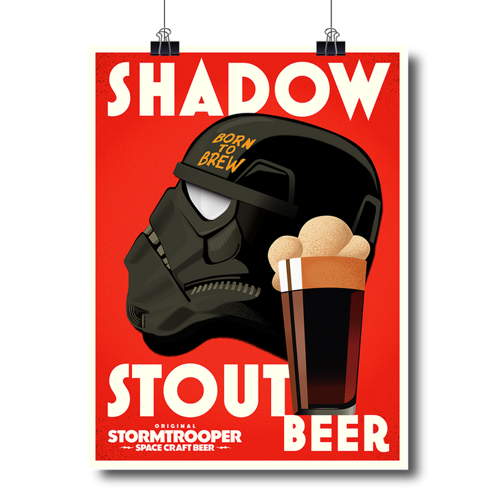 Retro Shadow Stout Poster