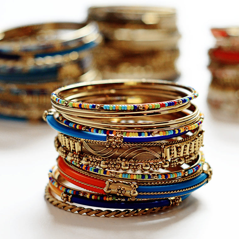 Monaco 18-pc Bangle Set - Multi