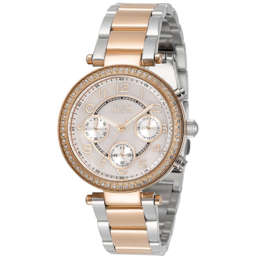 Ladies 'Angel' Crystal Bezel Chronograph Bracelet Watch
