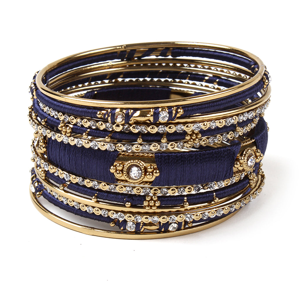 Ankara 13-pc  Bangle Set - Navy