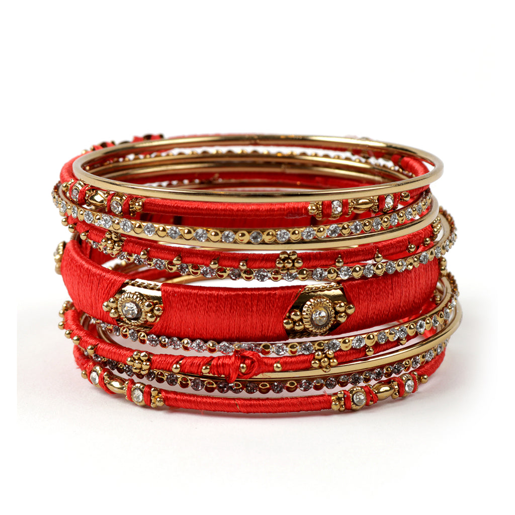 Ankara 13-pc  Bangle Set - Red