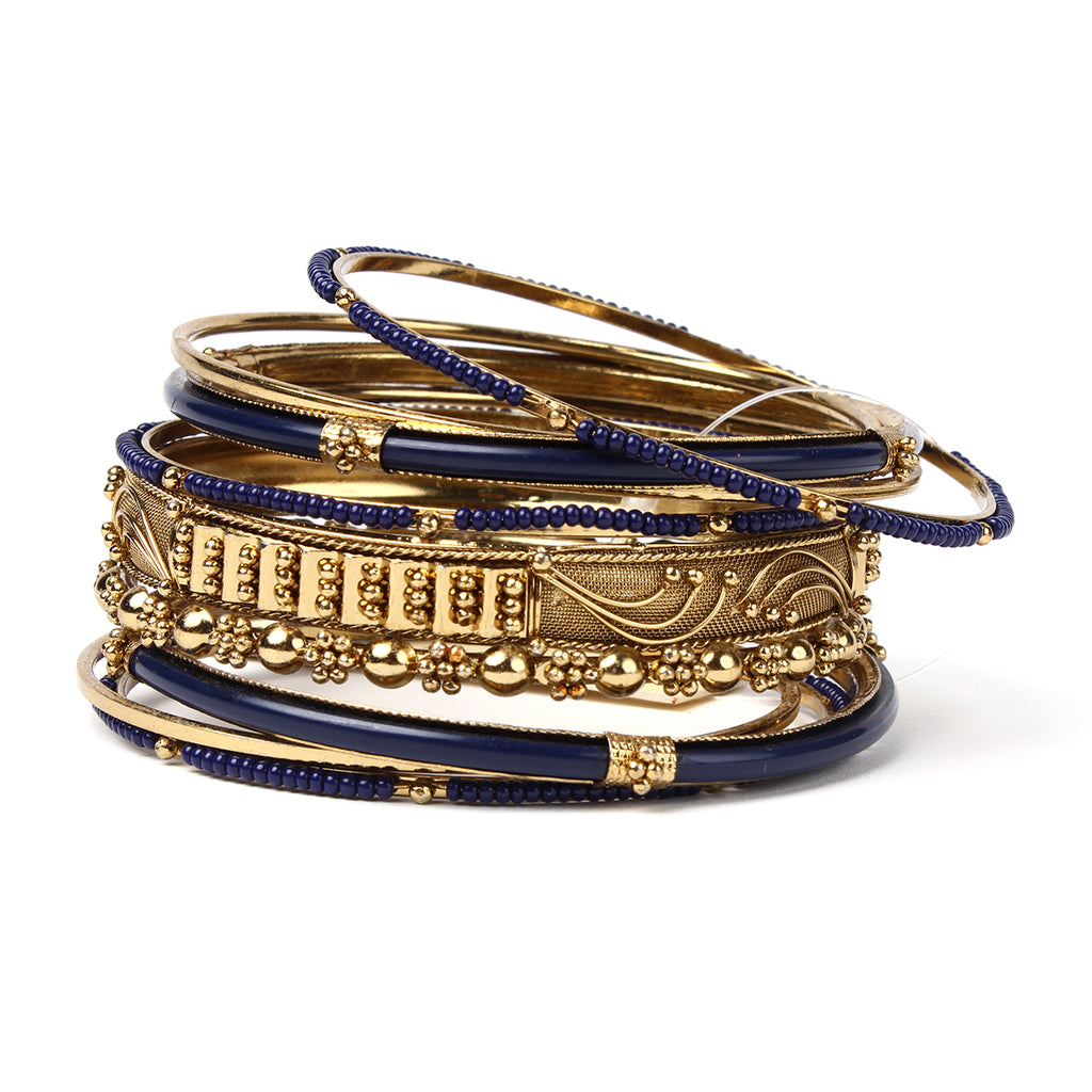 Marseille 10-Pc Bangle Set - Navy