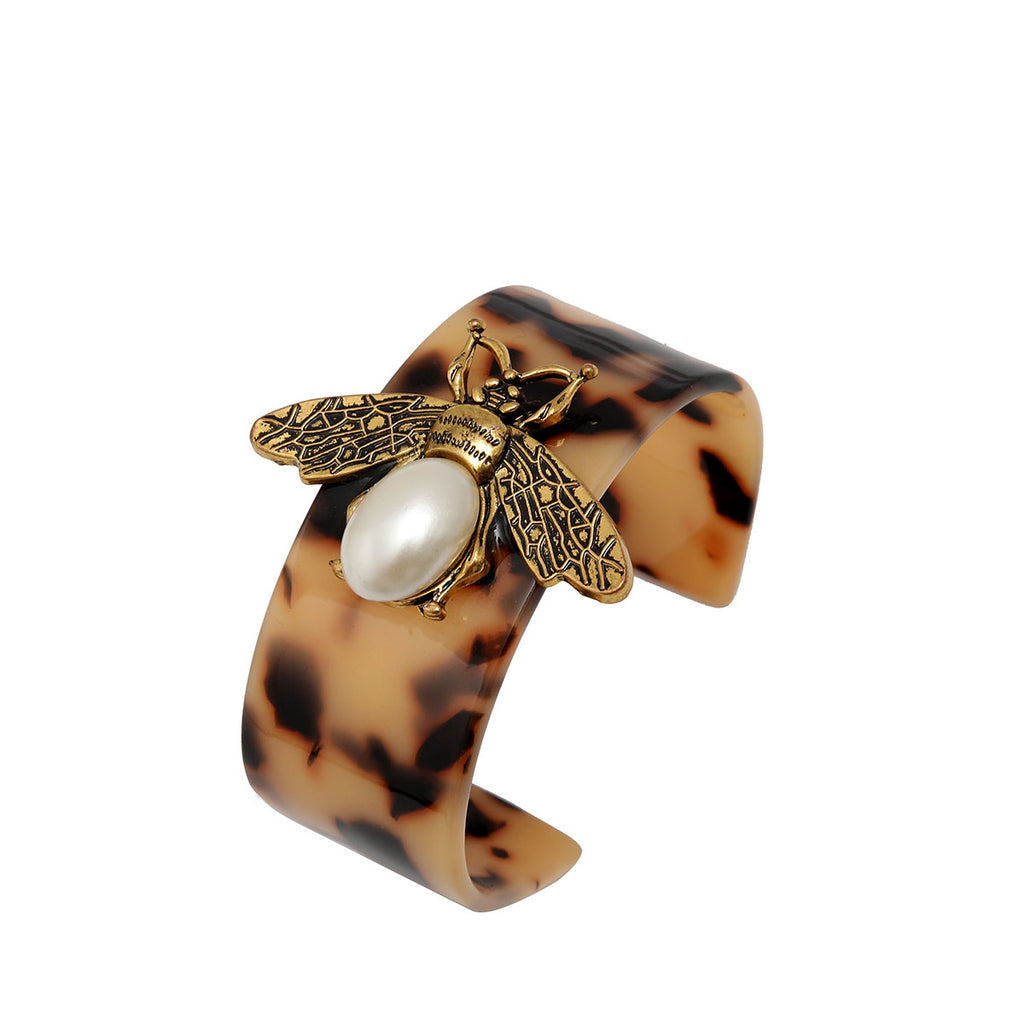 Big Bee Resin Cuff - Brown