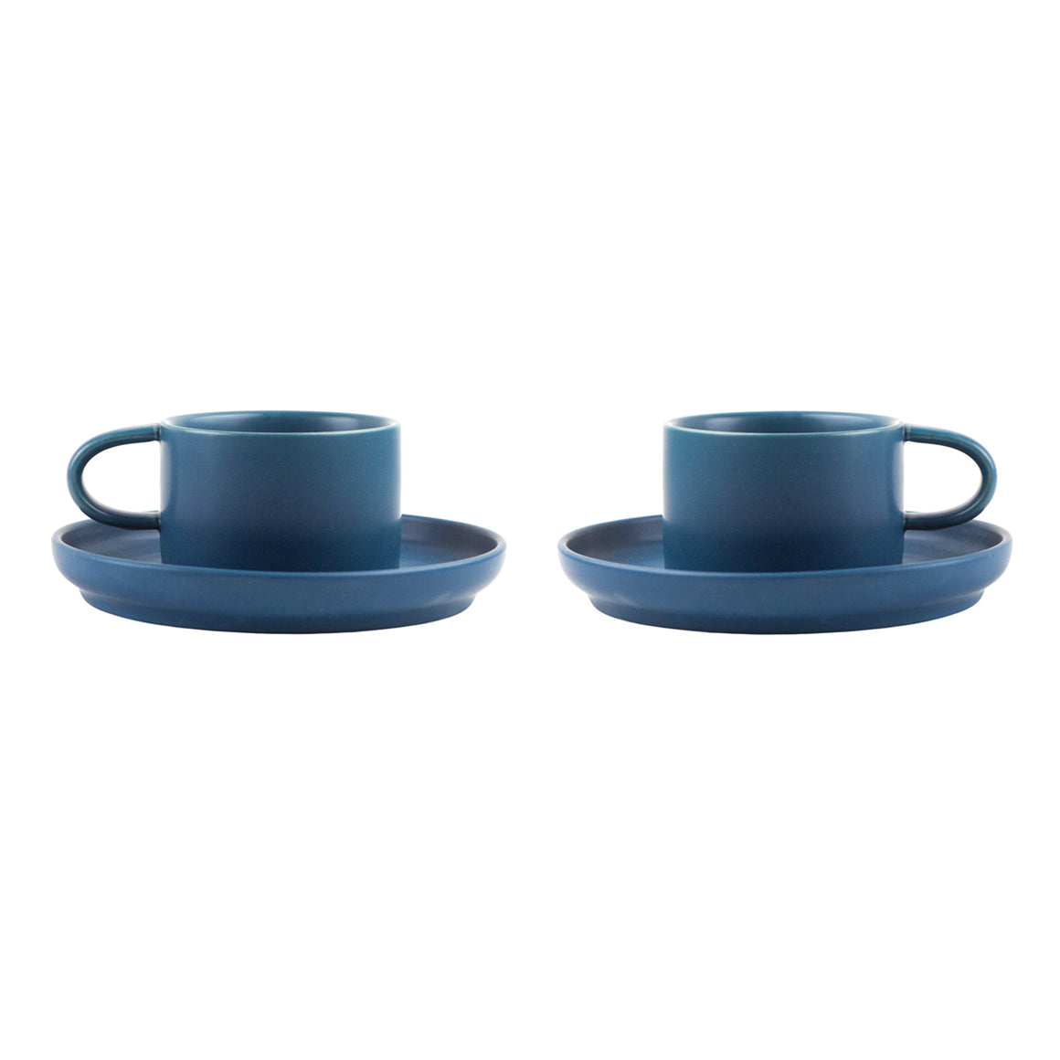 Nordic Design Cup & Saucer Set, 2 pack - Dark Blue