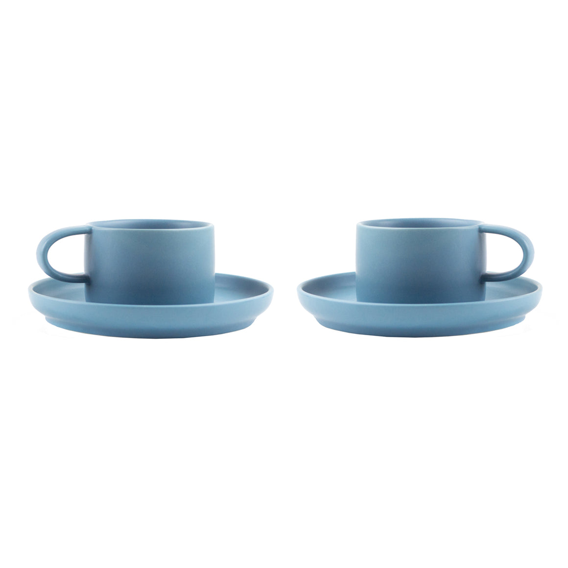 Nordic Design Cup & Saucer Set, 2 pack - Light Blue