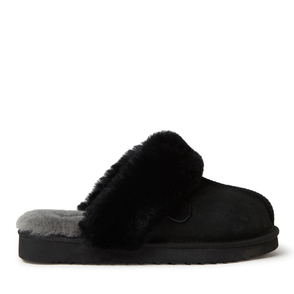 Fireside By Dearfoams Women's Sydney Genuine Shearling Scuff Slipper