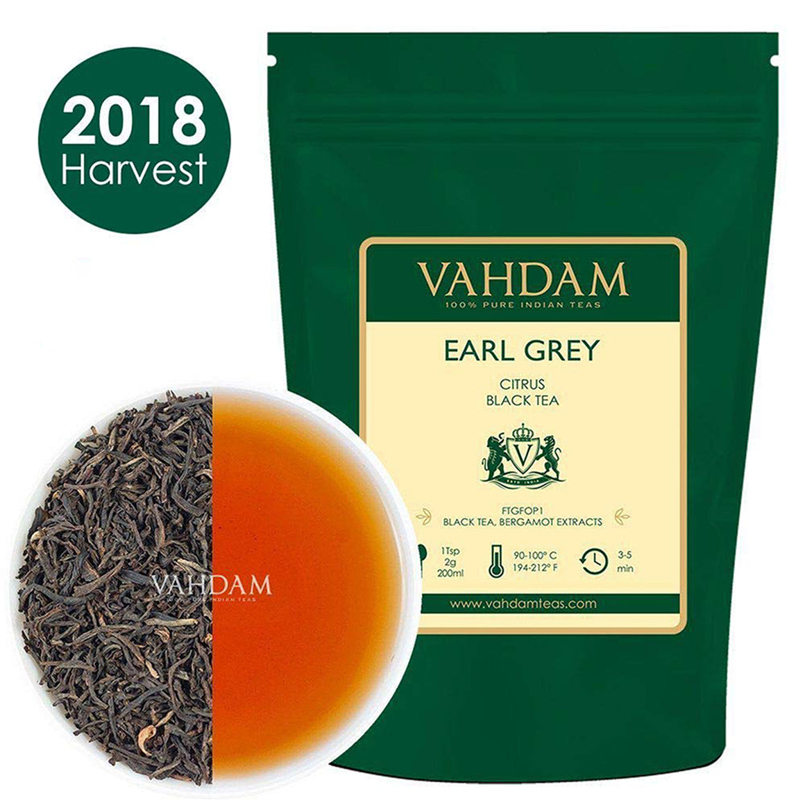 Earl Grey Citrus Black Tea Leaves (200+ Cups)