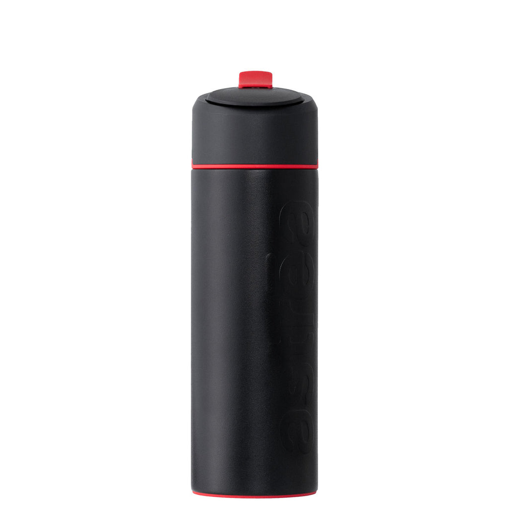 astrea ONE Premium Stainless Steel Filtering Water Bottle, 20 Oz. - Black/Red + Filter