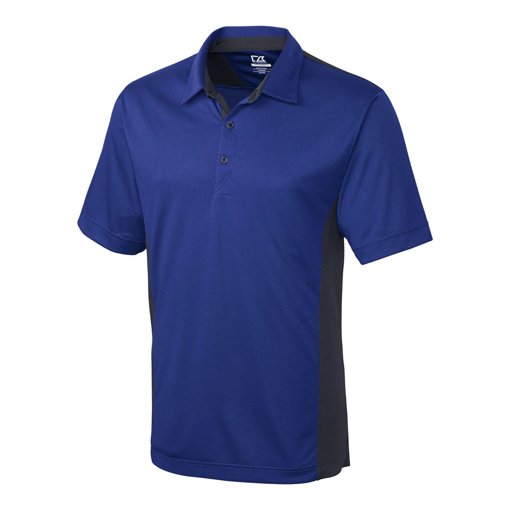 CB DryTec Willows Colorblock Polo - Tour Blue/Gray