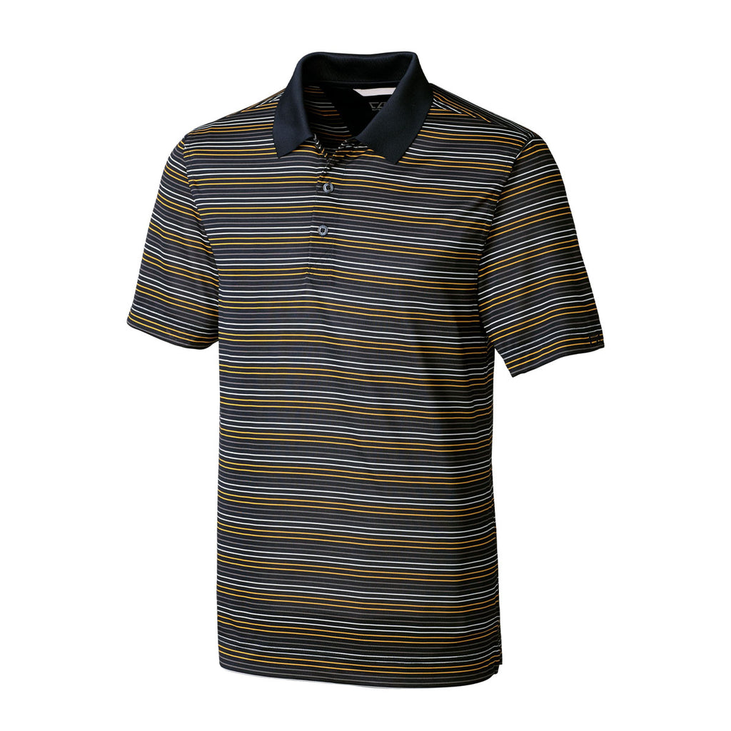 CB Drytec Resolve Stripe Polo - Navy/College Gold