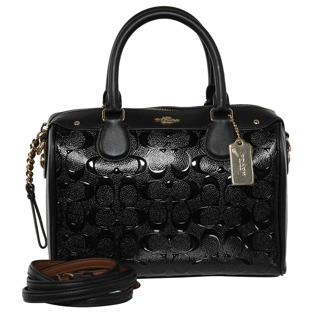 Coach Signature Small Satchel- Black/Black