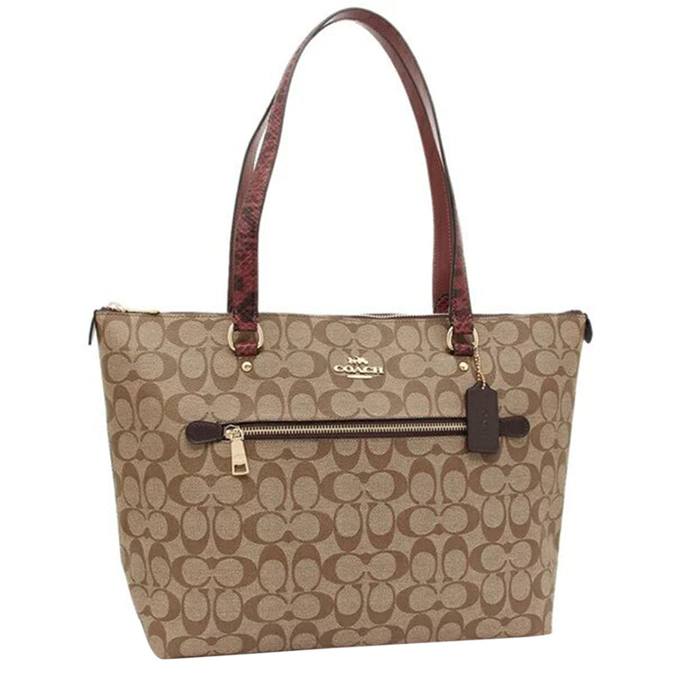 Coach Snake Embossed Tote Bag