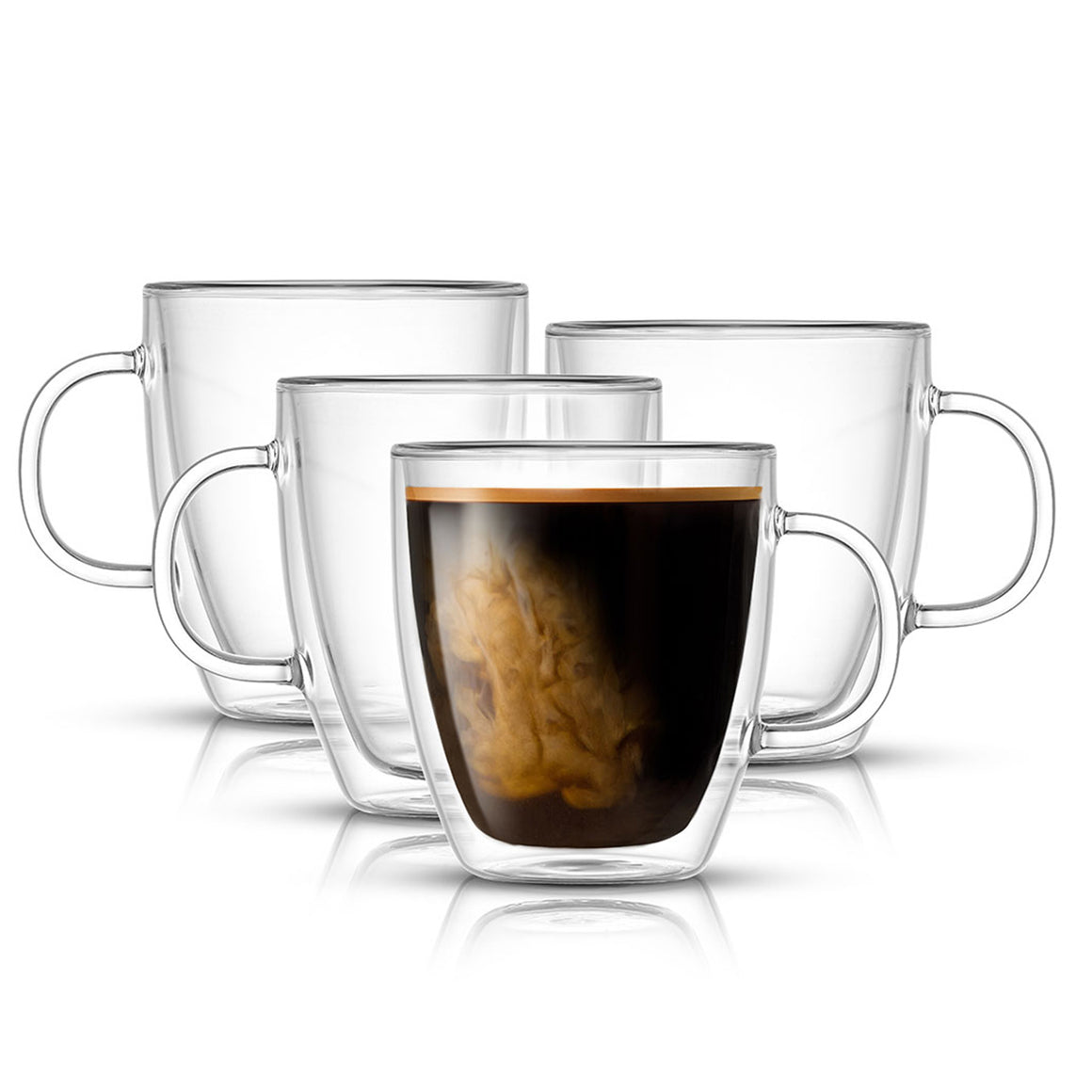 Arise Double Wall Insulated Glasses, 13.5 oz Set of 4