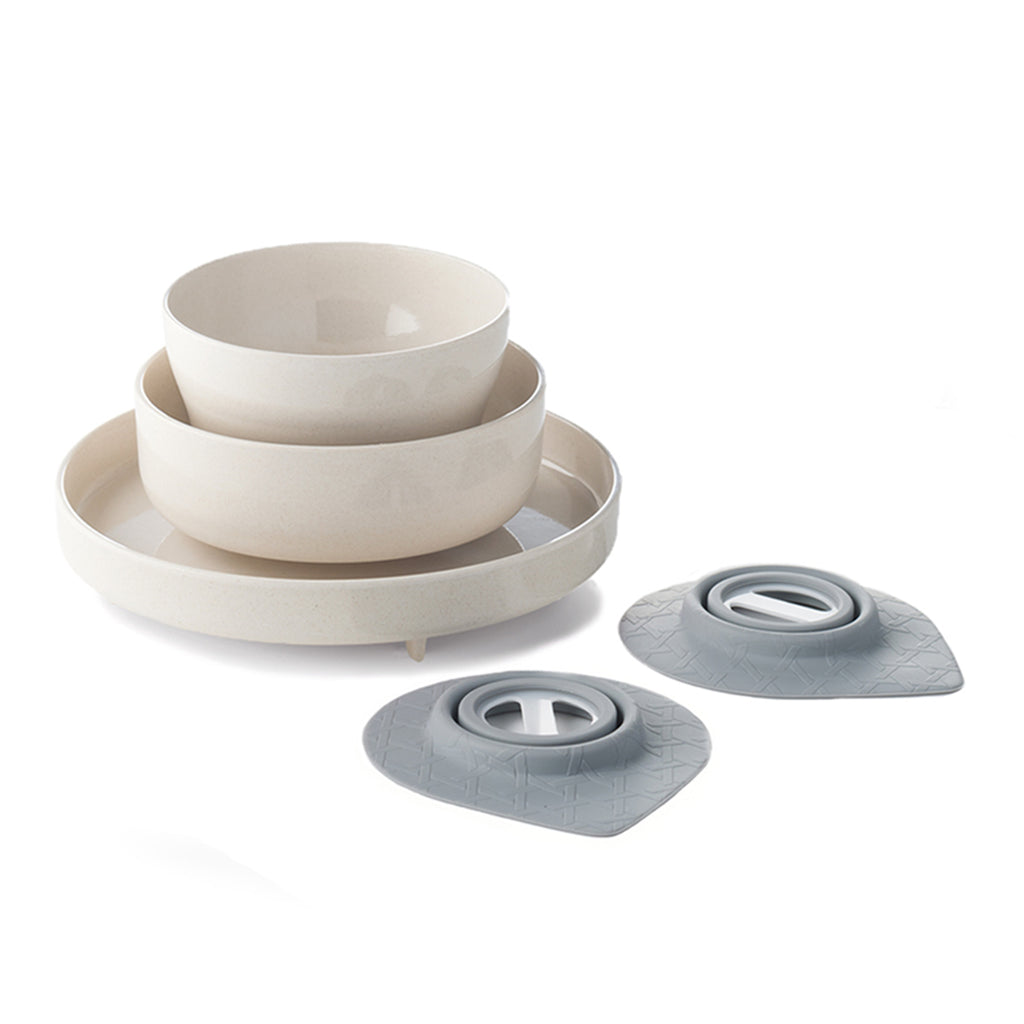 Miniware Eating Master Set in Natural Bamboo Color