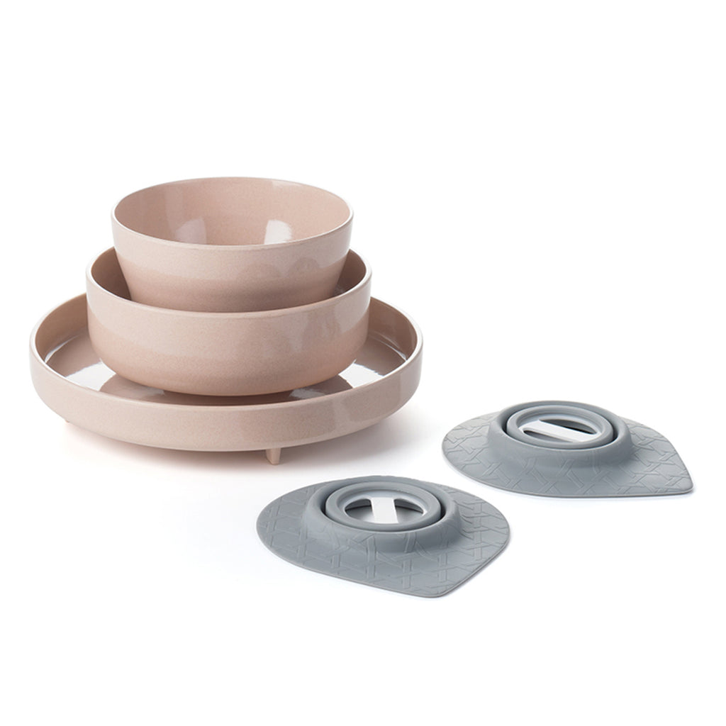 Miniware Eating Master Set in Sandy Stone Color