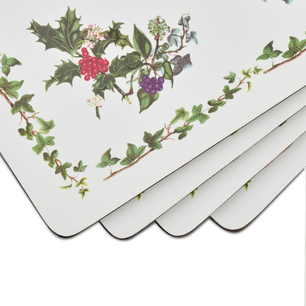 The Holly and The Ivy Placemats, Set of 4