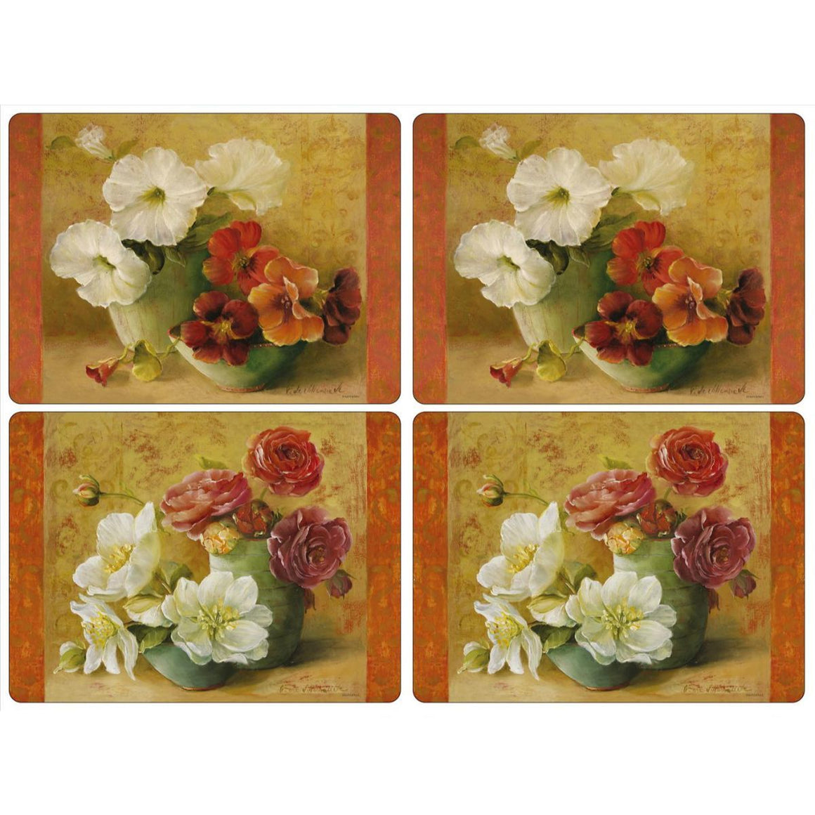 Floral Offering Placemats, Set of 4