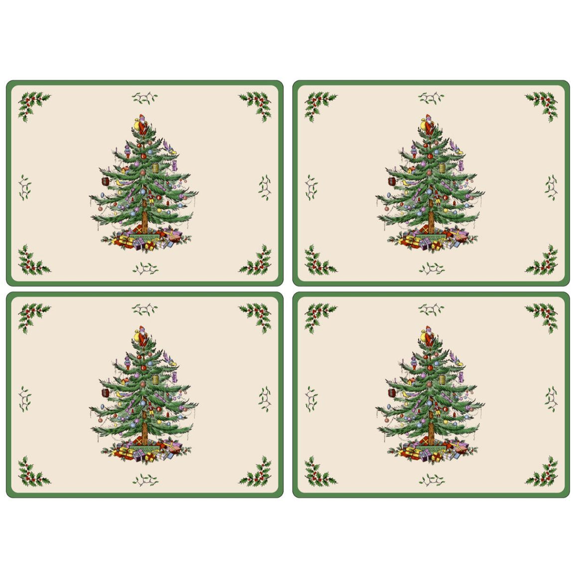Christmas Tree Placemats, Set of 4