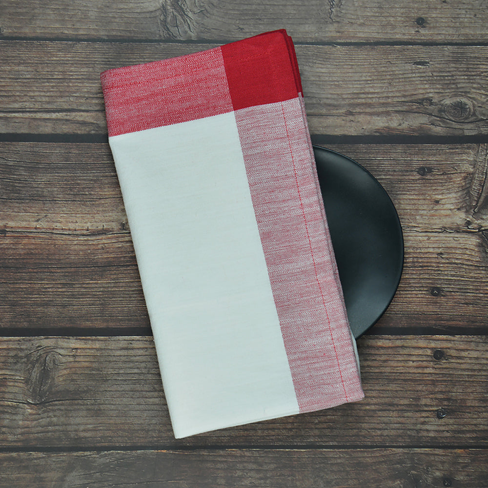 8-Piece Napkin Set - Deep Red