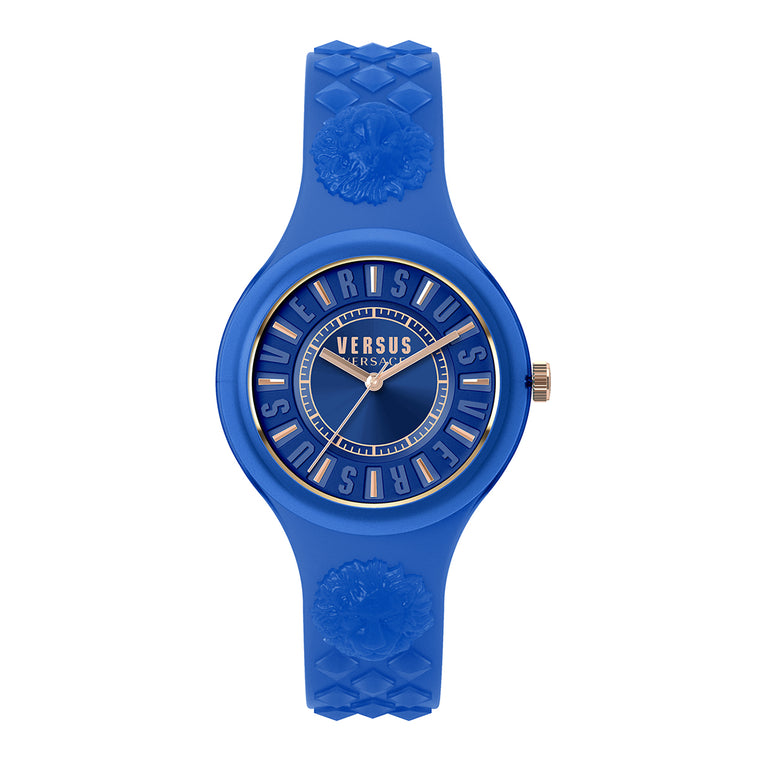 39mm Fire Island Navy Blue Dial Navy Blue Silicone Strap