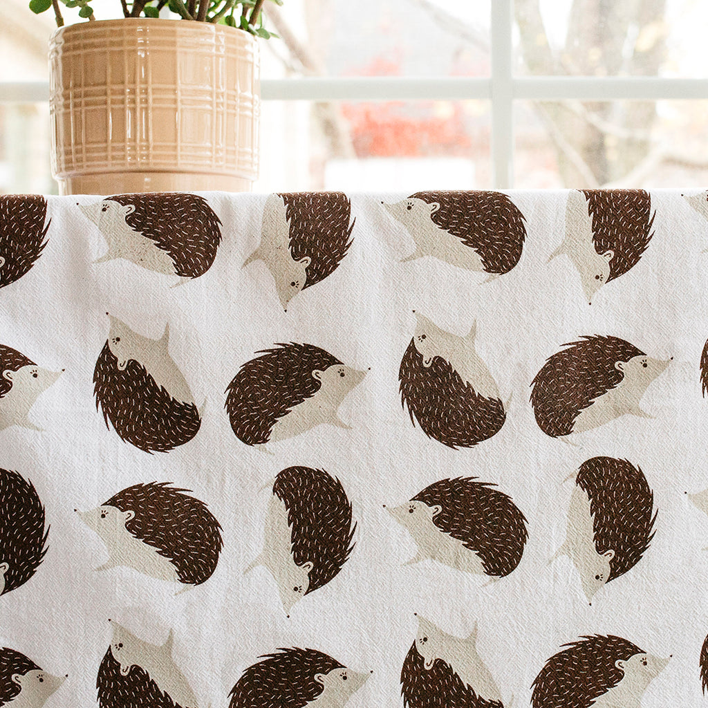 Hedgehog Tea Towel Set of 2