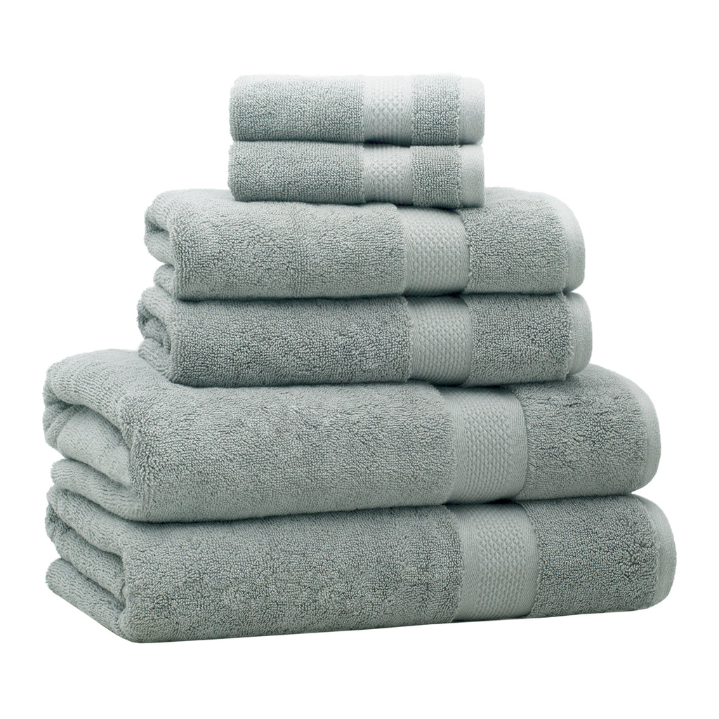 6-Piece Luxury Classic Bath Towel Set – Green
