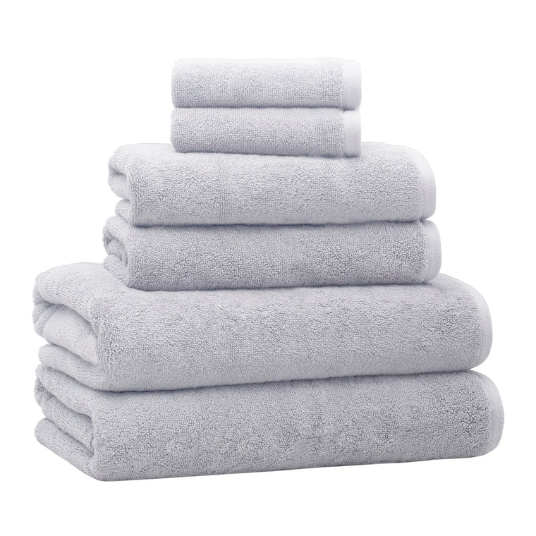 6-Piece Luxury Plush Bath Towel Set – Fog