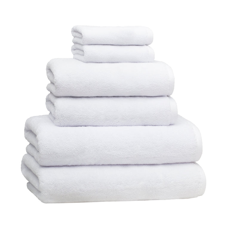 6-Piece Luxury Plush Bath Towel Set – White