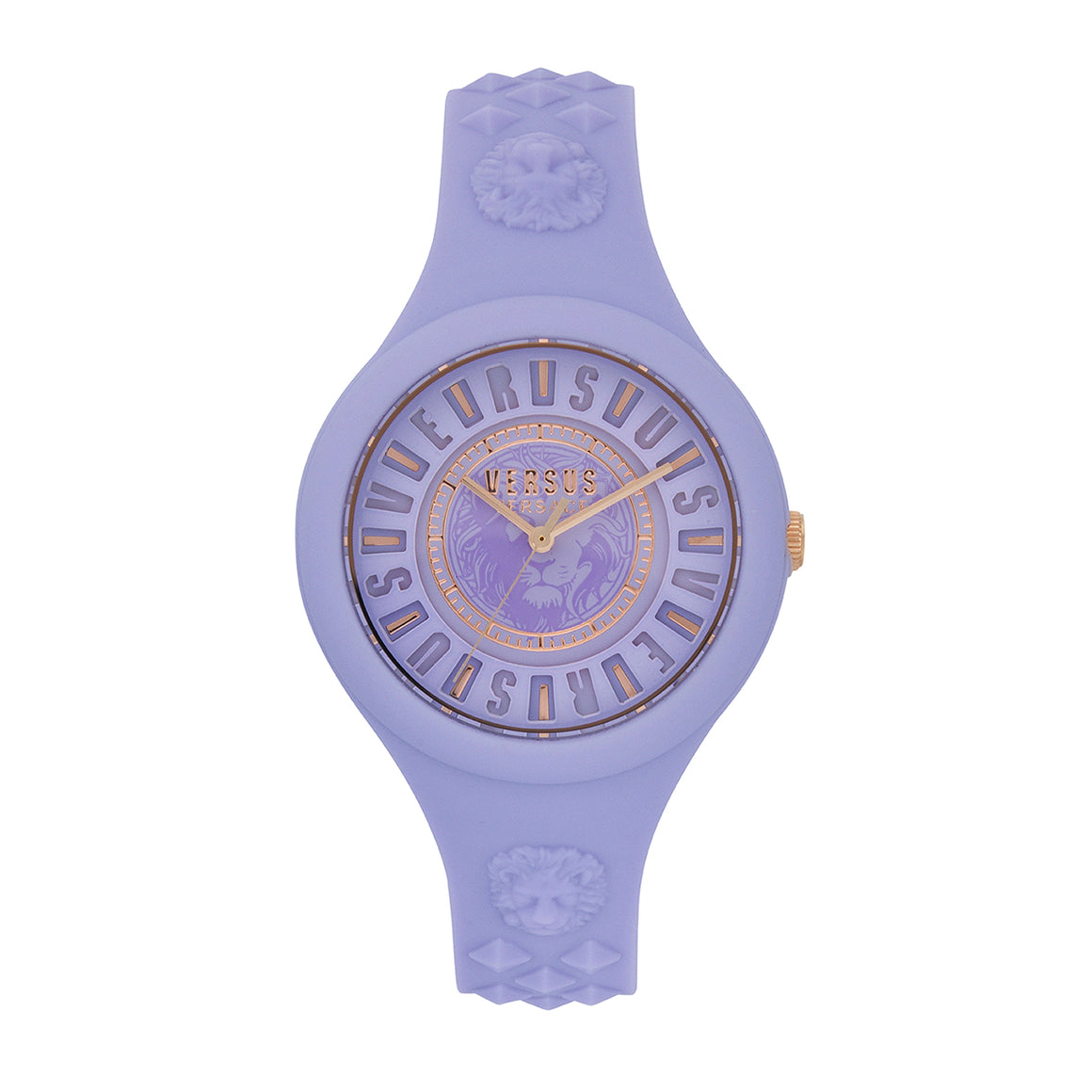 39mm Fire Island Lumiere Violet Dial Violet Silicone Strap