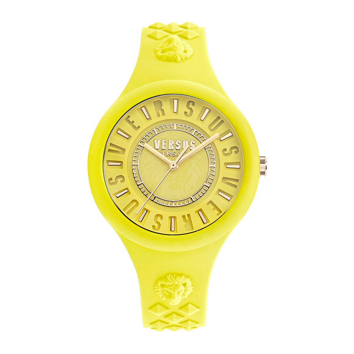 39mm Fire Island Lumiere Yellow Dial Yellow Silicone Strap