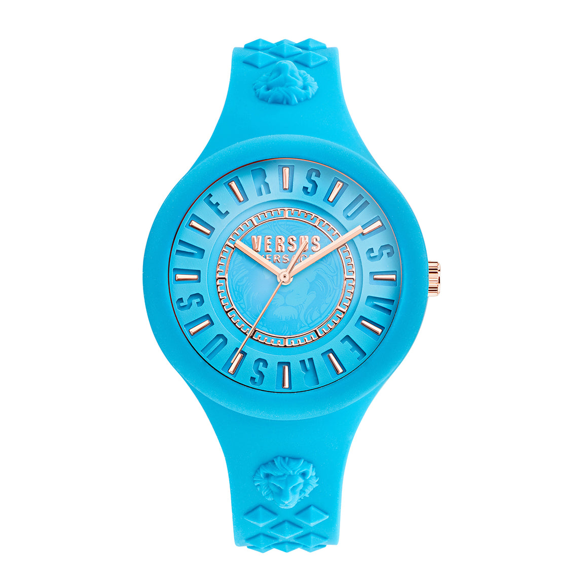 39mm Fire Island Lumiere Turquoise Dial Turquoise Silicone Strap