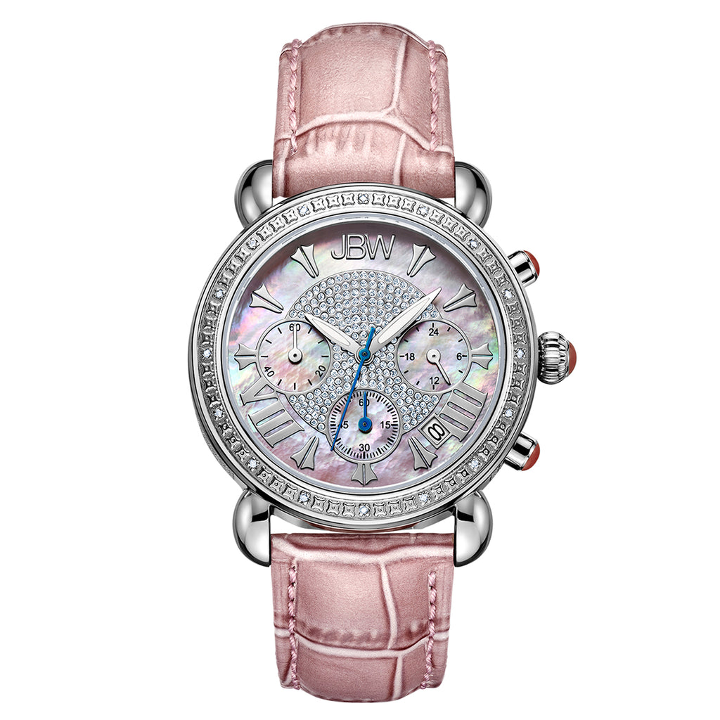 Women's Victory Leather Diamond Watch - Pink