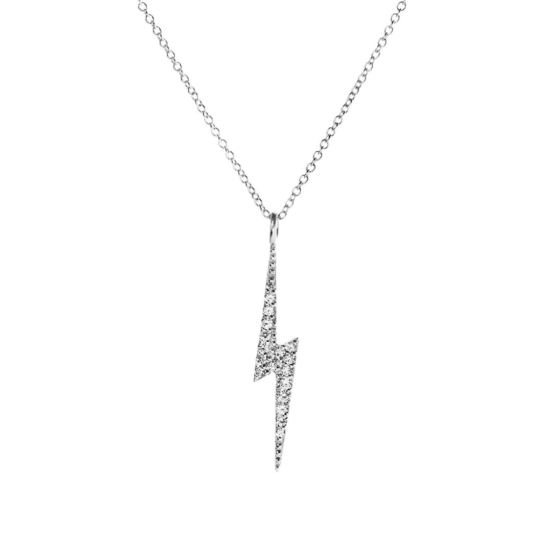 Flash Necklace - solid 14k white gold