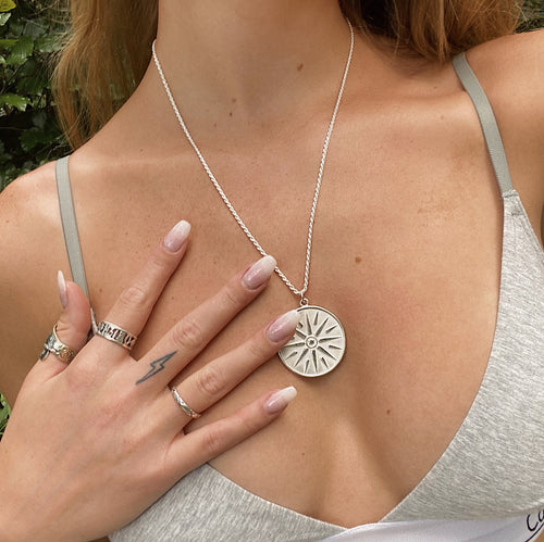 Sun Child Necklace - sterling silver