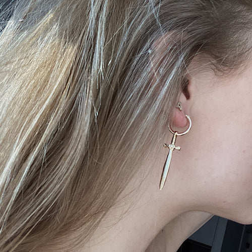 Viking Hoops - 14k yellow gold filled