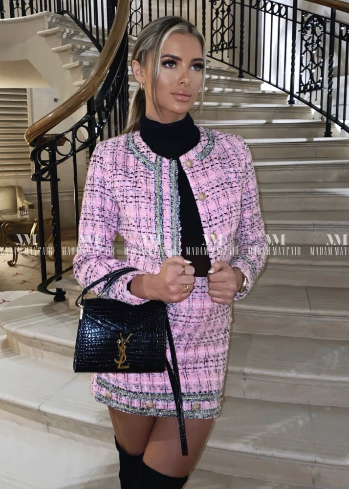 Alexis Pink Tweed Suit