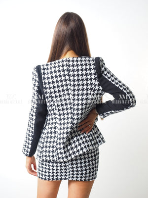 Cordelia Houndstooth Two Piece