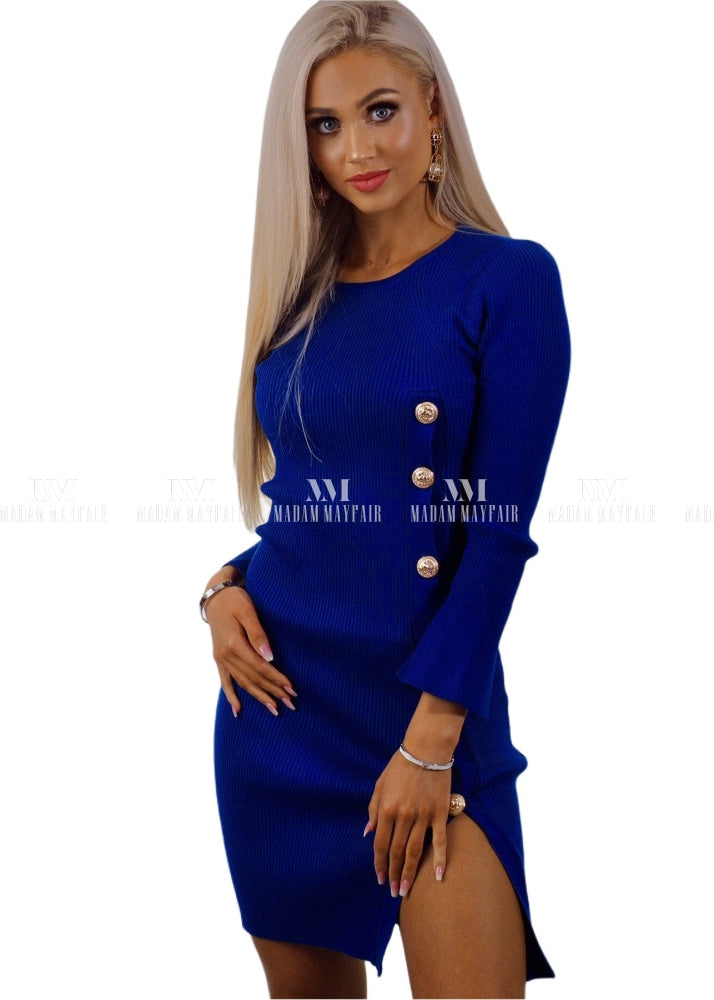 Monica Bodycon Split Button Dress Dresses