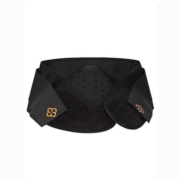 A black Compression Belt with an orange Copper88 logo and white background