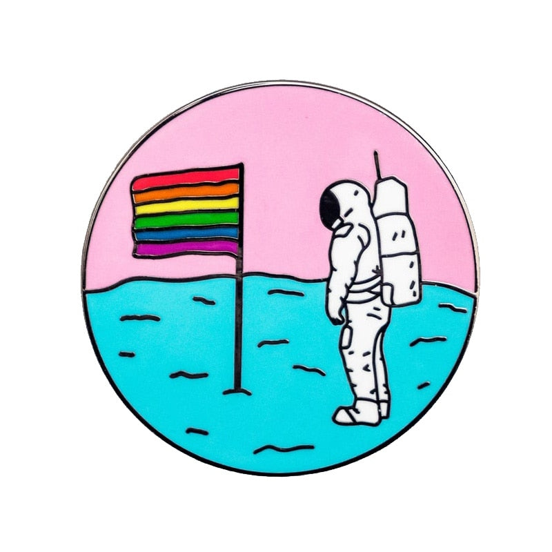 Pride Moon Flag Pin